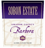 Sobon Estate Barbera Amador County 750ML (case of 12)