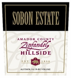 Sobon Estate Zinfandel Hillside Amador County (case of 12)