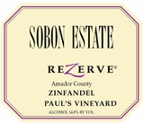 Sobon Estate Zinfandel Paul's Vineyard (case of 12)