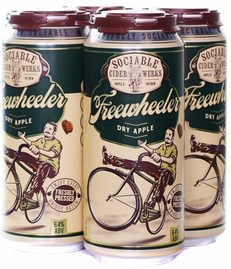 Sociable Cider Werks Freewheeler Dry Apple Hard Cider 4PK