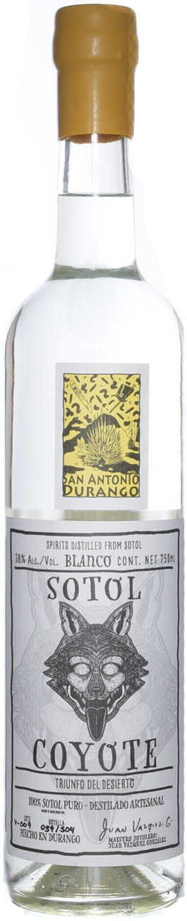 Sotol Coyote San Antonio Durango (yellow label) 750ML