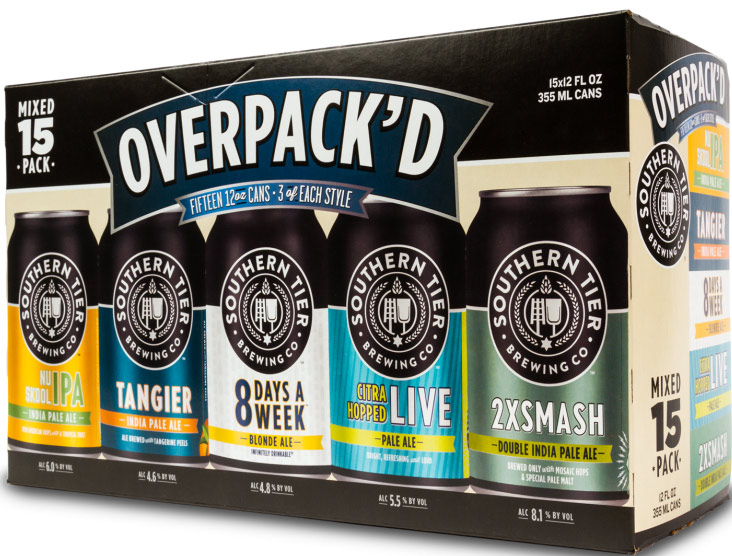 Southern Tier Overpack'd 15 Can Variety Pack