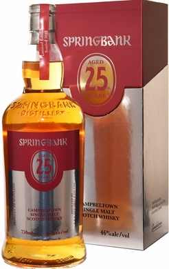 Springbank 25 Year Old Single Malt Scotch
