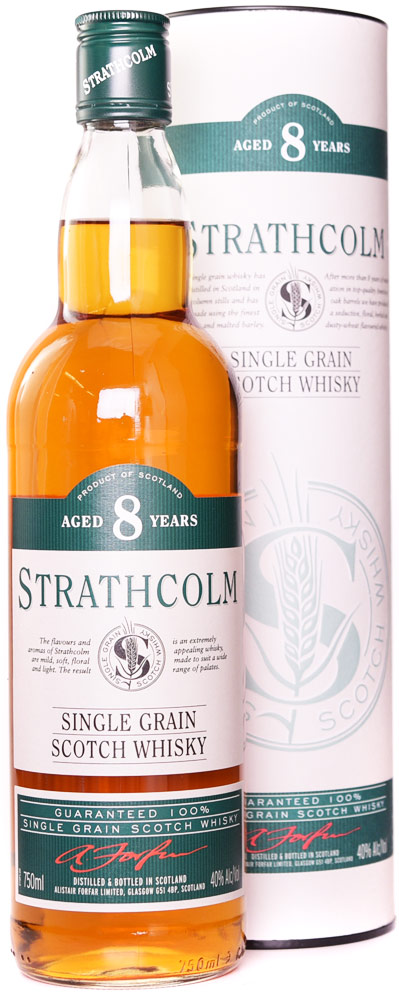 Strathcolm 8 Year Old Single Grain Whisky 750ML