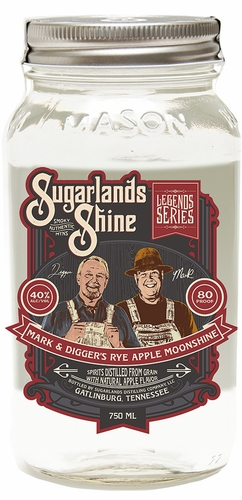 Sugarlands Shine Mark & Diggers Rye Apple Flavored Moonshine 750ML