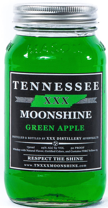 Tennessee XXX Green Apple Moonshine 750ML