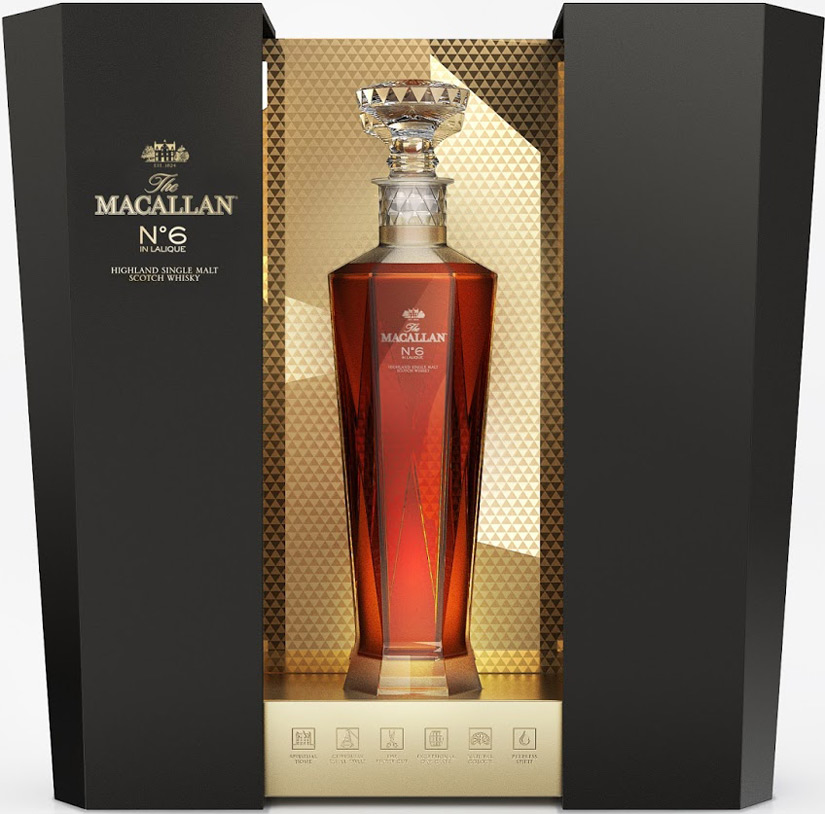 The Macallan 1824 Series No. 6 in Lalique Single Malt Scotch