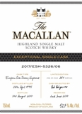 The Macallan Exclusive Cask 5326 Single Malt Scotch