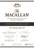 The Macallan Exclusive Cask 8841 Single Malt Scotch