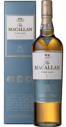 The Macallan Fine Oak 15 Year Old Single Malt Scotch