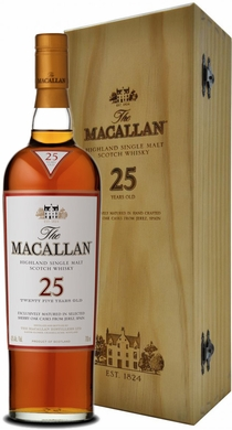 The Macallan Sherry Cask 25 Year Old Single Malt Scotch