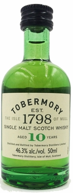 Tobermory 10 Year Old Single Malt Scotch 50ML