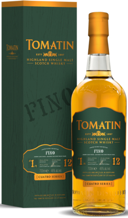 Tomatin Cuatro Series 12 Year Old Fino Sherry Finished Single Malt Scotch