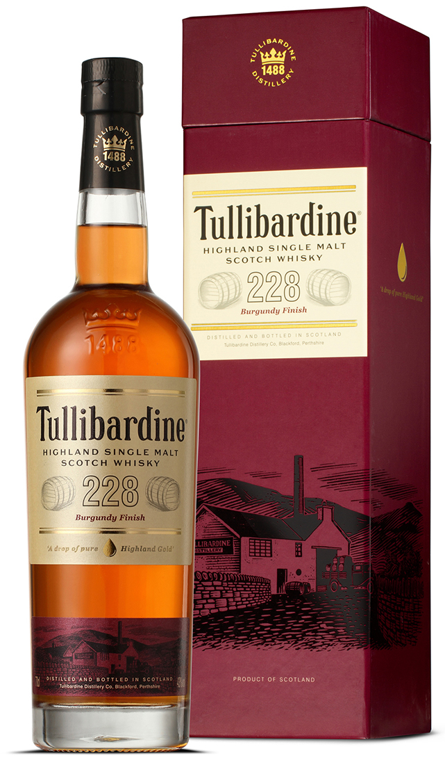 Tullibardine 228 Burgundy Finished Single Malt Scotch