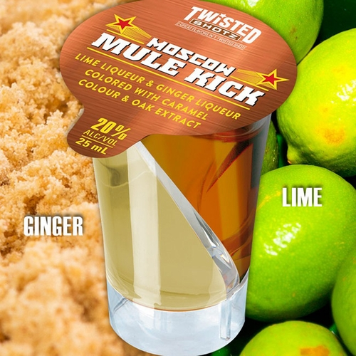 Twisted Shotz Moscow Mule Kick (4) 25ML Shots