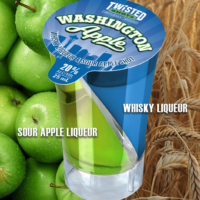 Twisted Shotz Washington Apple (4) 25ML Shots