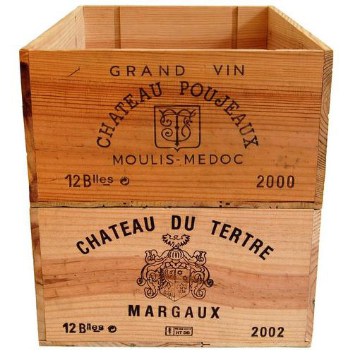 Wood wine crates from various wineries buy wine boxes for Timber wine box