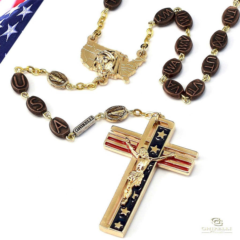 Welcome To Catholic Collectibles Https Sepyimgcom Ty Cdn Gasscootertassemblyjpg The Usa Rosary In Gold Finish 50 States