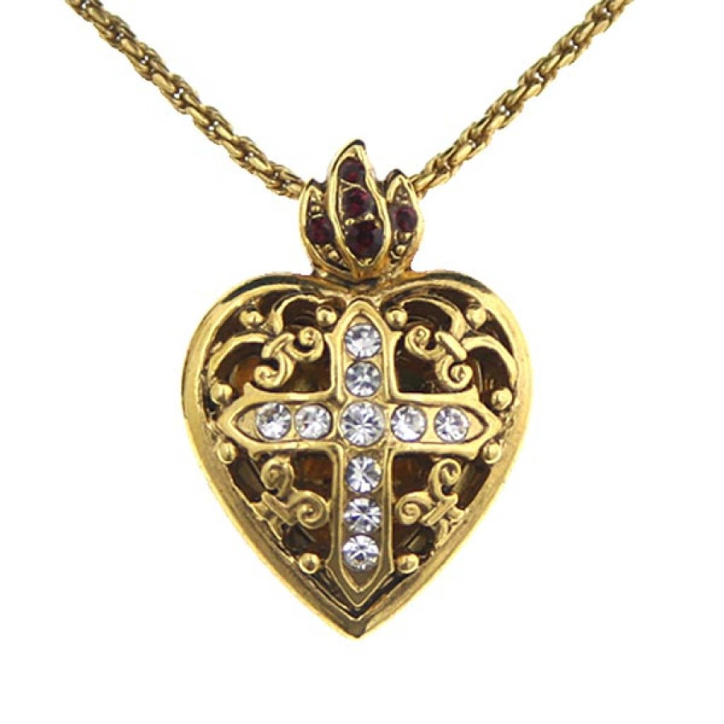 v gold pendant c diamond cross necklaces in miracle lockets zales t white w