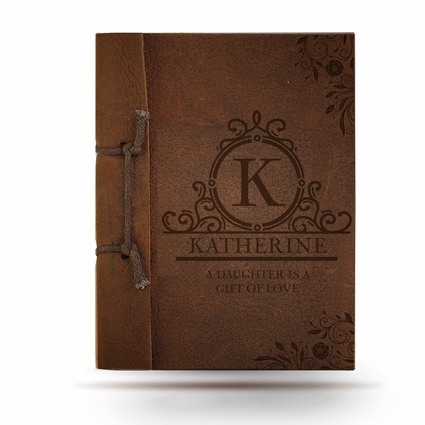 A Daughter Is Antiqued Leather Note Book