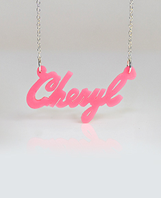 "Acrylic Name Necklace ""Cheryl"""