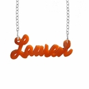 Acrylic name necklace �Lauren�