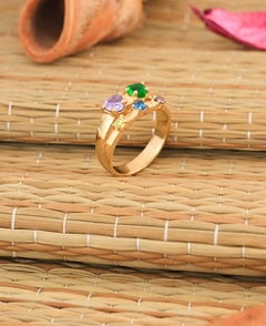 Adam & Eve Family Ring with Stones