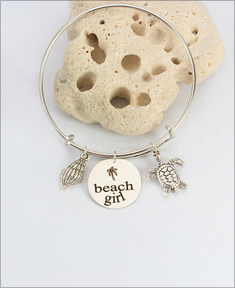 Adjustable Beach Girl Bangle Bracelet