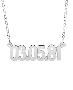 Special Date Necklace