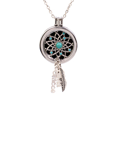 Aromatherapy Stainless Steel Dream Catcher Necklace