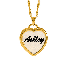 Ashley Mother Pearl  Heart Necklace