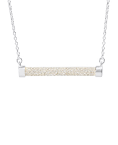 Bar Necklace with Cubic Zirconia