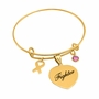 Breast Cancer Awareness Heart Bangle