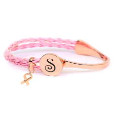 Breast Cancer Awareness Metal Cuff