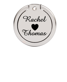 Cellphone Ring Holder with Couple's Names