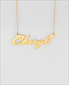 """Cheryl"" Name Necklace"