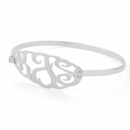 Clasp Bangle Monogram Bracelet