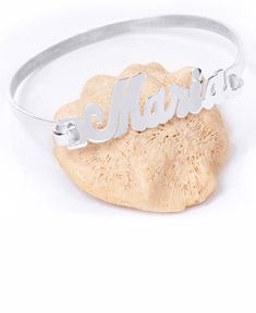 Clasp Bangle Name Bracelet