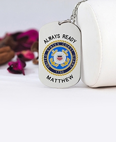 Coast Guard Tag Pendant  with Engraving