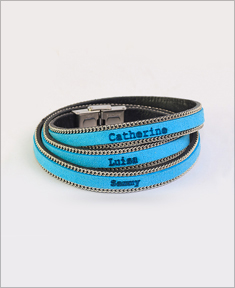 Color Leather Engraved Bracelet