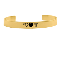 Bangle with Couple's Initials