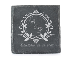 Coaster with Couple's Initials
