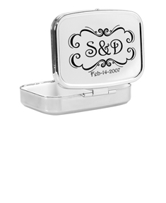 Compact Case with Couple's Initials