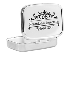 Compact Case with Couple's Names