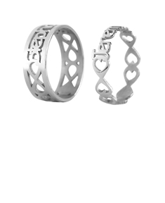 Couple's Name Rings