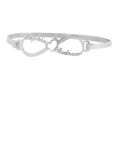 Couples Names Clasp Bangle