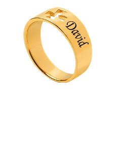 Cross Ring with Couples Names