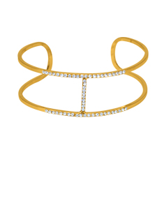 Cuff Bangle With Stones