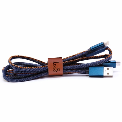 Dual Personalized USB Charging Cables for Android & IPhone