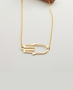 Cut Out Hamsa Necklace